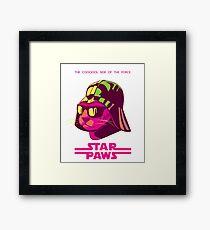 Darth Kitty - Neon Framed Print