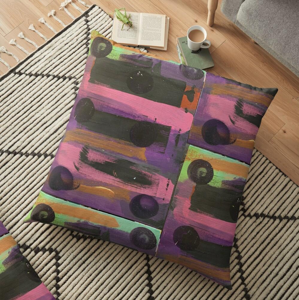 Indigo Ladybug  Floor Pillow