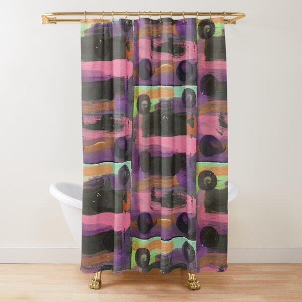Indigo Ladybug  Shower Curtain