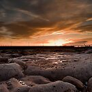 Amble Harbour Sunset by Philip  Whittaker