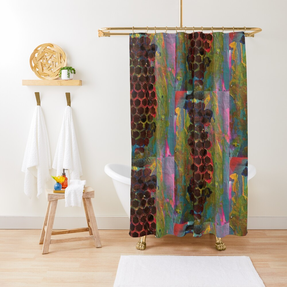 One Step Forward, Two Steps Back Shower Curtain