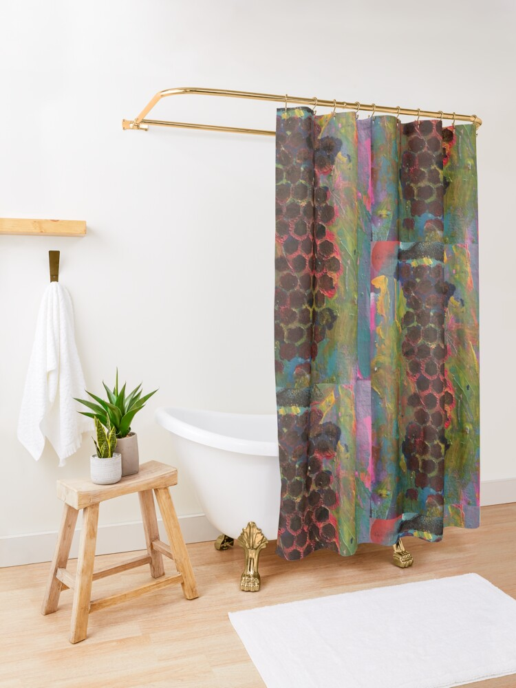 Alternate view of One Step Forward, Two Steps Back Shower Curtain