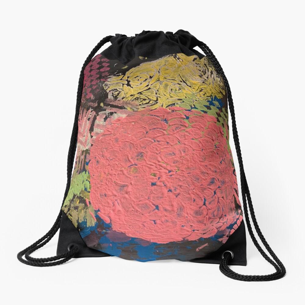 Coral Snowball Drawstring Bag