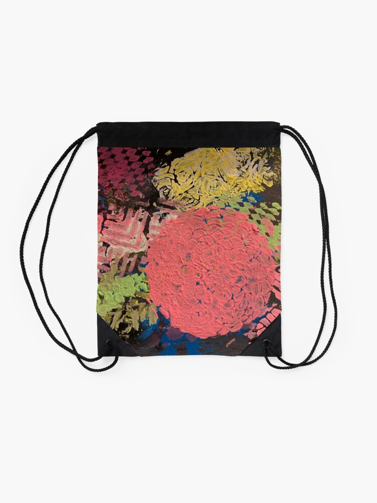 Alternate view of Coral Snowball Drawstring Bag