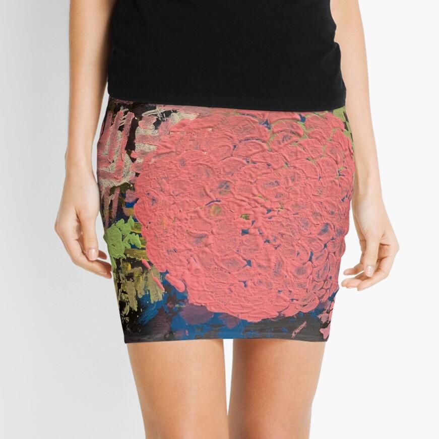 Coral Snowball Mini Skirt