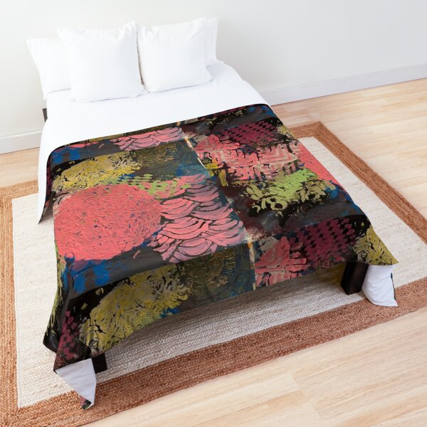 Coral Snowball Comforter
