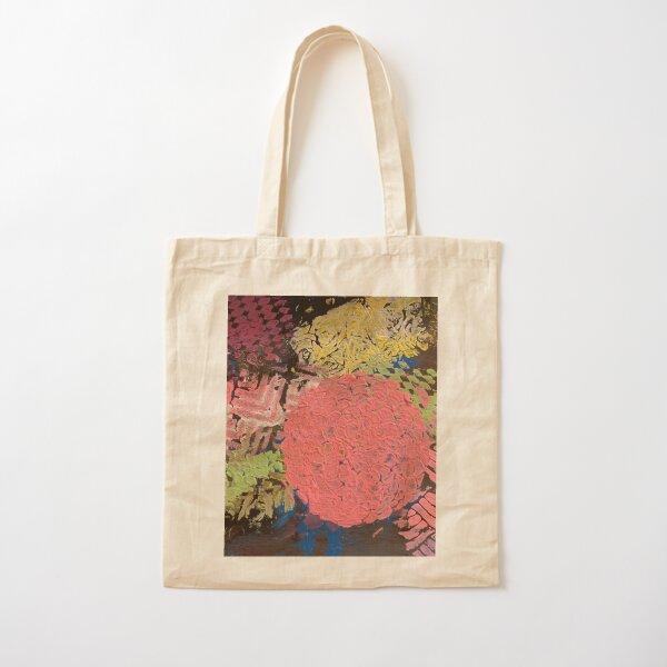Coral Snowball Cotton Tote Bag
