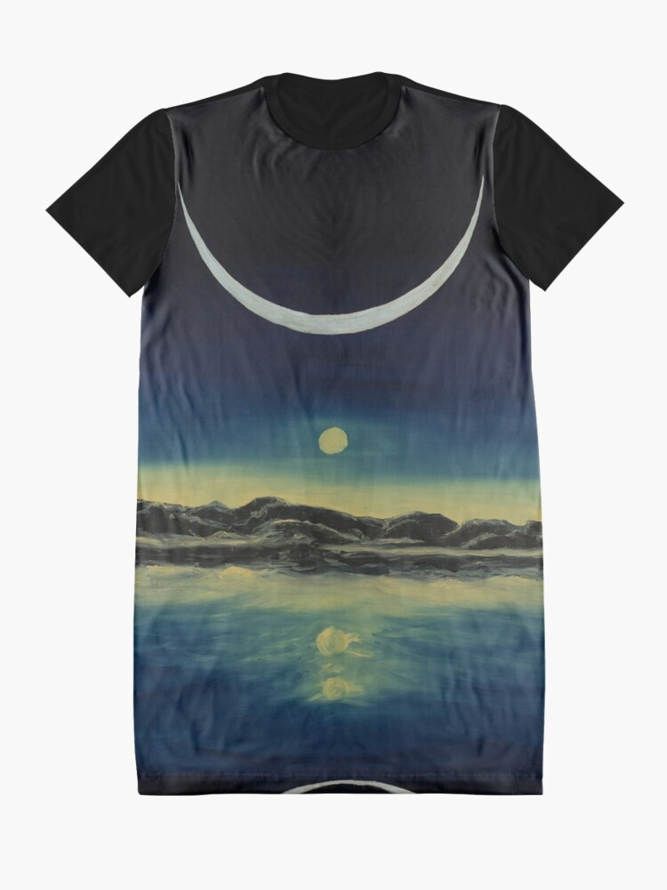 Alternate view of Supernatural Eclipse Graphic T-Shirt Dress