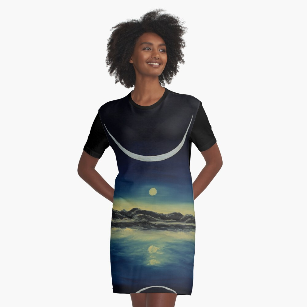 Supernatural Eclipse Graphic T-Shirt Dress