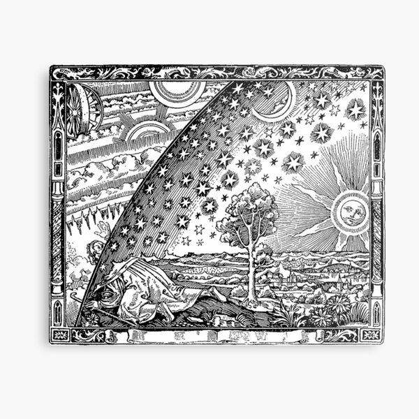 Cosmic Mystery. Flammarion wood engraving.  Metal Print
