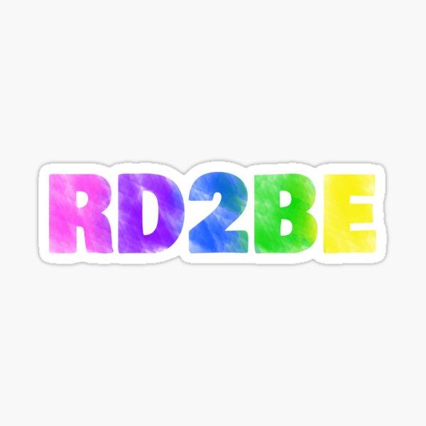 RD2BE rainbow Sticker