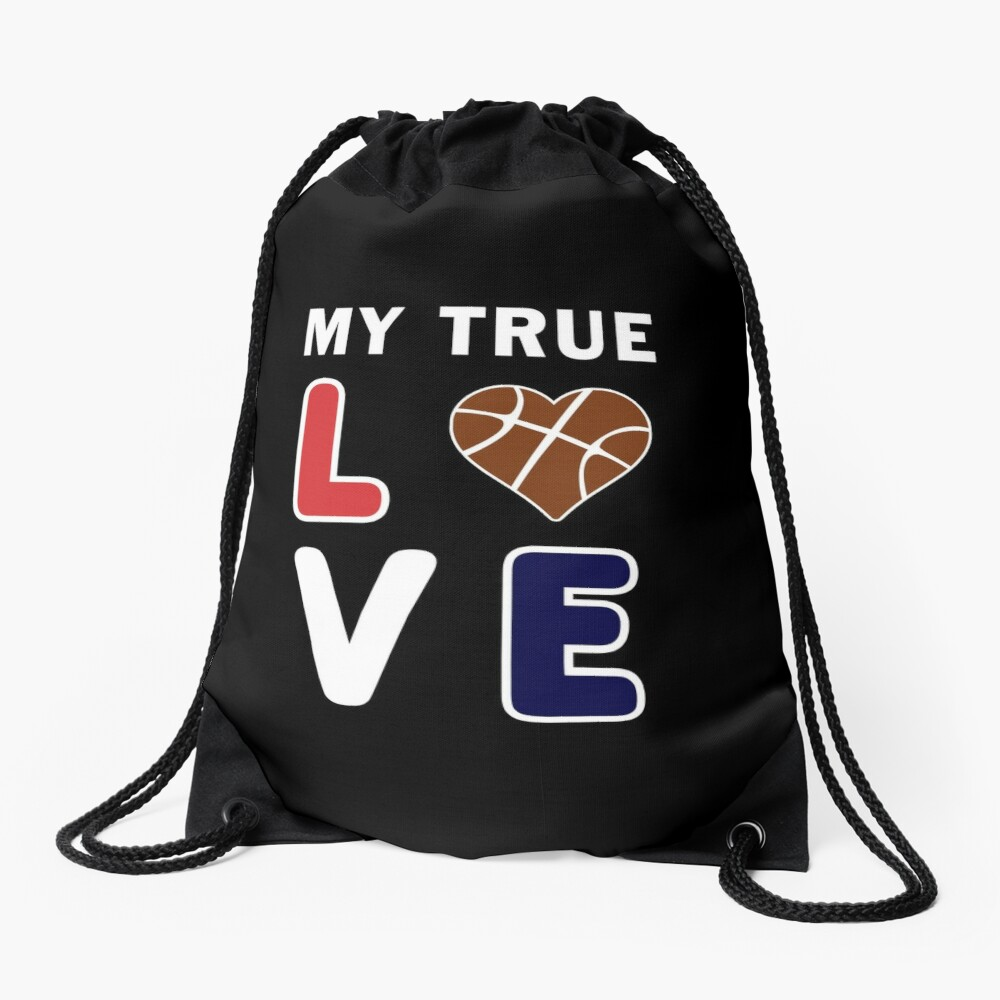 Bball My True Love Practice Hoops Bballer Coach. Drawstring Bag