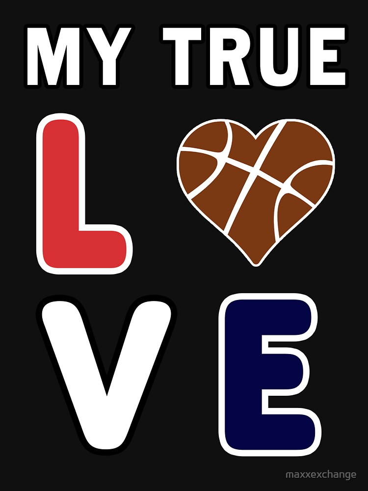Basketball My True Love kids Coach Team Lover Gift. by maxxexchange