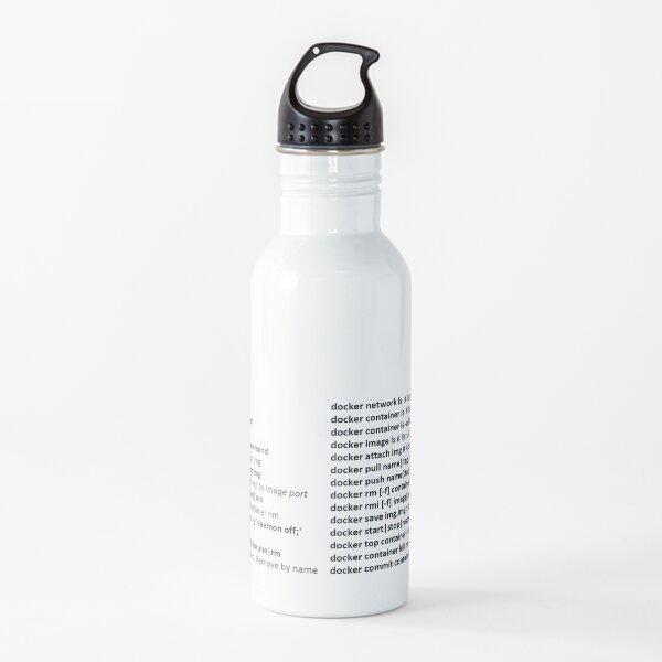 The Docker Commands Cheat Sheet. Water Bottle