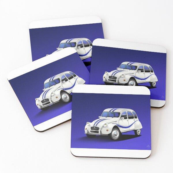 Poster artwork - Citroen 2CV Beachcomber Coasters (Set of 4)