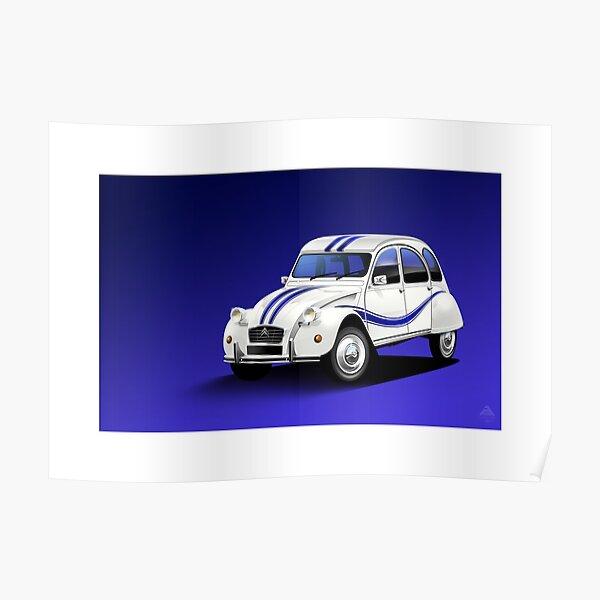 Illustration d'affiche - Citroen 2CV Beachcomber Poster