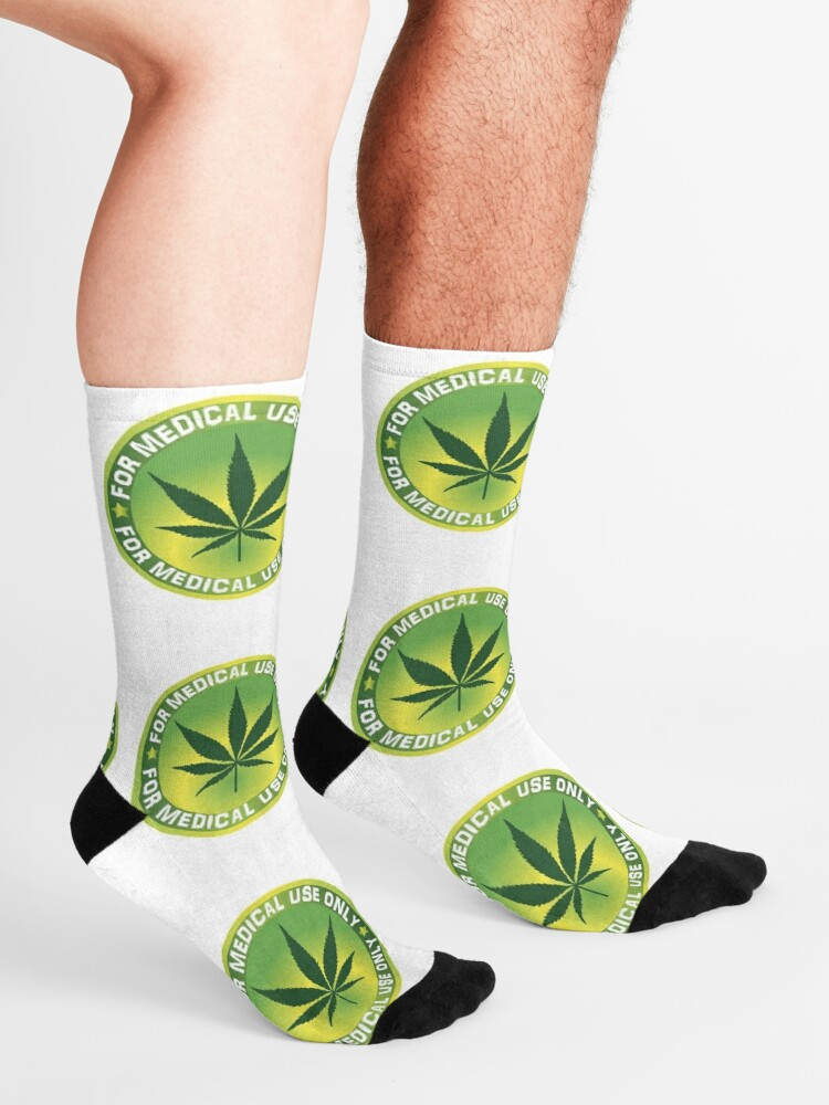 Marijuana leaf cannabis mens short socks perfect socks Classic skin-friendly compression socks men