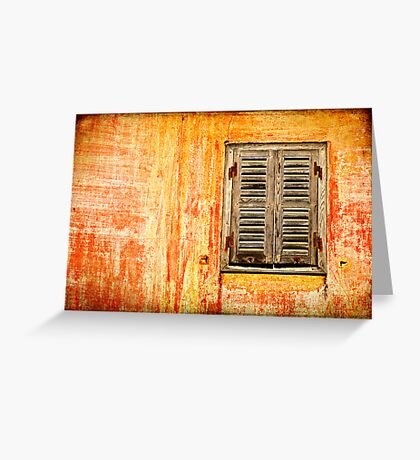 Window and amazing wall Greeting Card