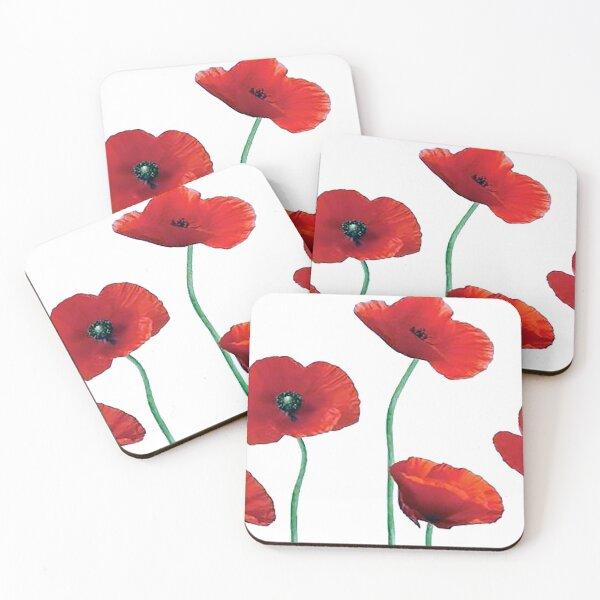 Poppies Coasters (Set of 4)