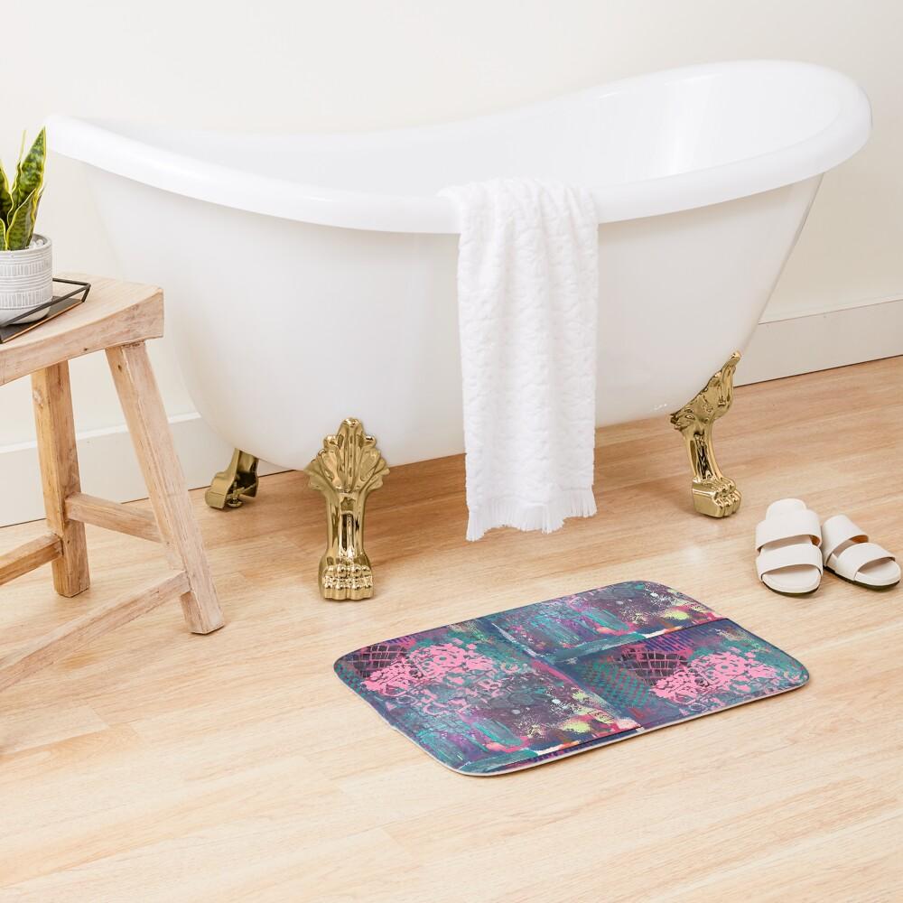 Grungy Pink Princess   Bath Mat