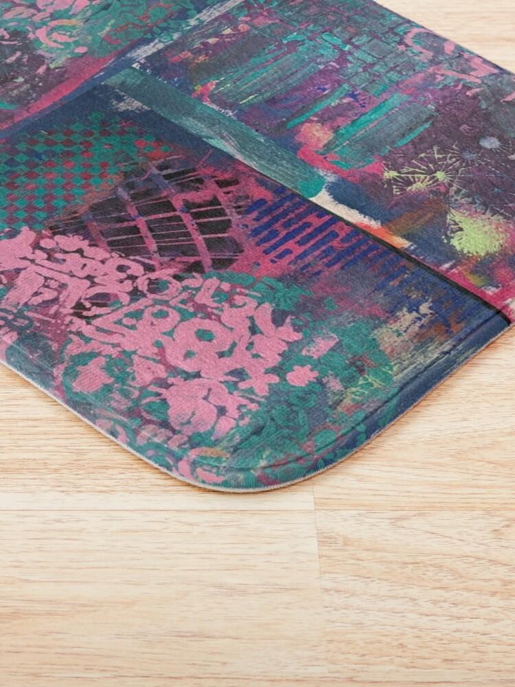 Alternate view of Grungy Pink Princess   Bath Mat