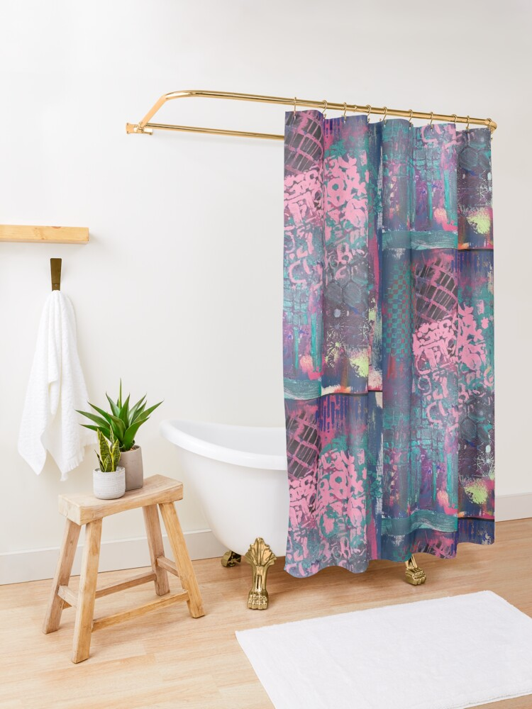 Alternate view of Grungy Pink Princess   Shower Curtain