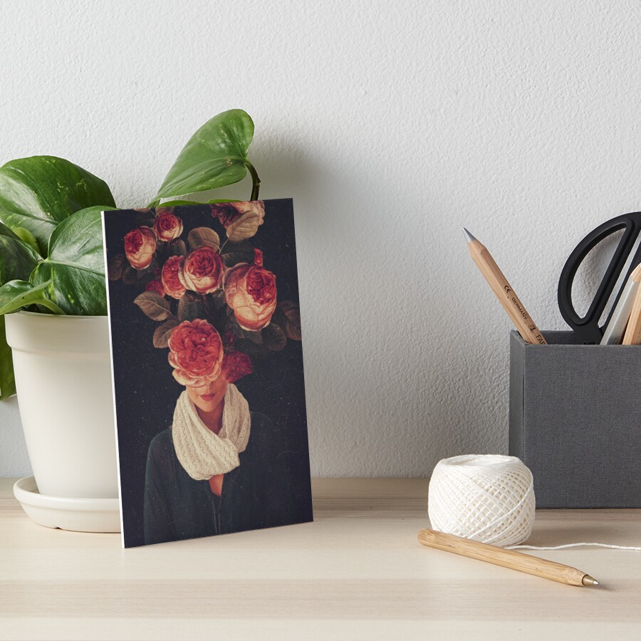 The smile of Roses Art Board Print