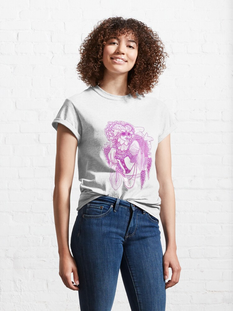 Alternate view of Violet Masked Blossom Classic T-Shirt