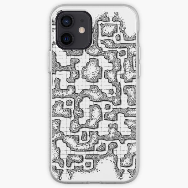 Dungeon map iPhone Soft Case