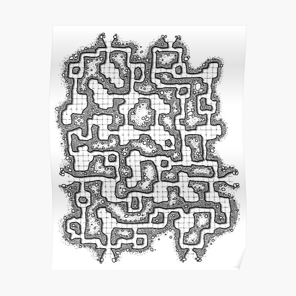 Dungeon map Poster