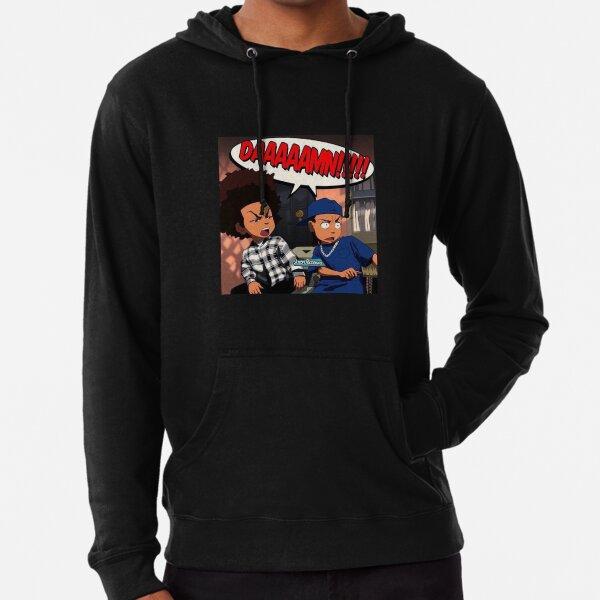 The Boondocks (DAMN meme) Huey x Riley Freeman Sweat à capuche léger