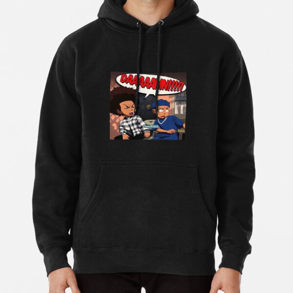 The Boondocks (DAMN meme) Huey x Riley Freeman Sudadera con capucha