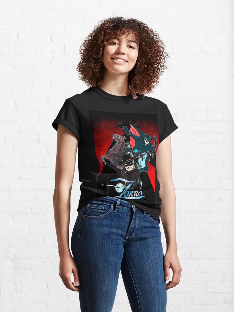 Alternate view of My Zorro fan art. Classic T-Shirt