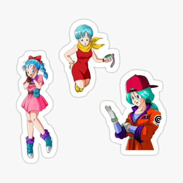 Trois étapes de Bulma Sticker