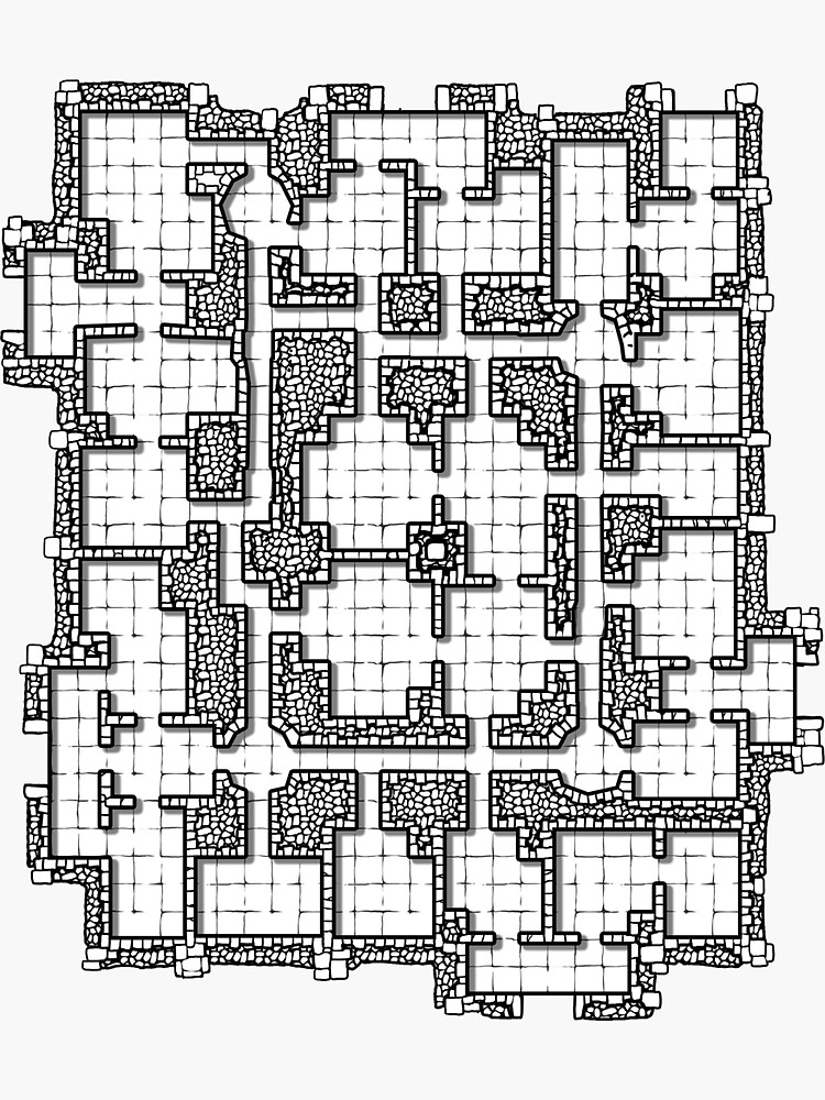 Dungeon map by LoonyRocket