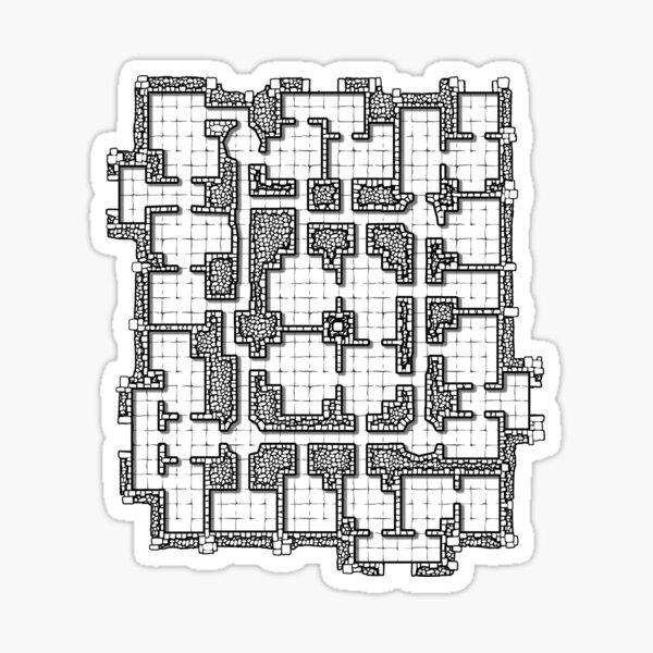 Dungeon map Sticker