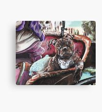 English Staffordshire Bull Terrier Canvas Print