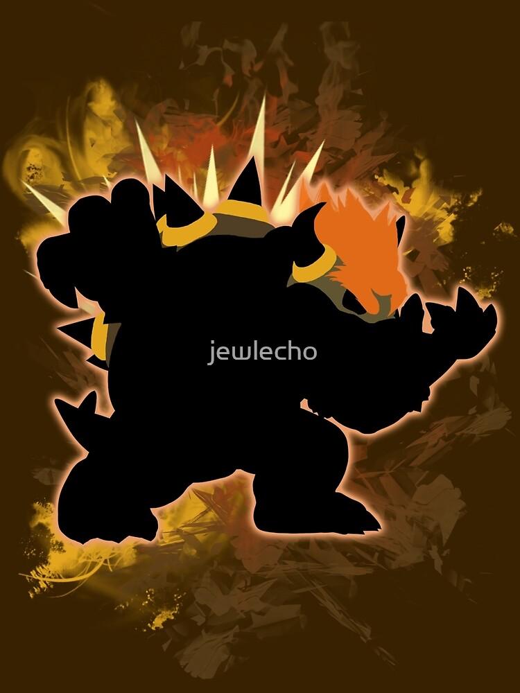 Super Smash Bros. Black/Dark Brown Bowser Silhouette by jewlecho
