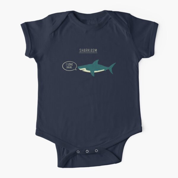 Sharkasm Short Sleeve Baby One-Piece