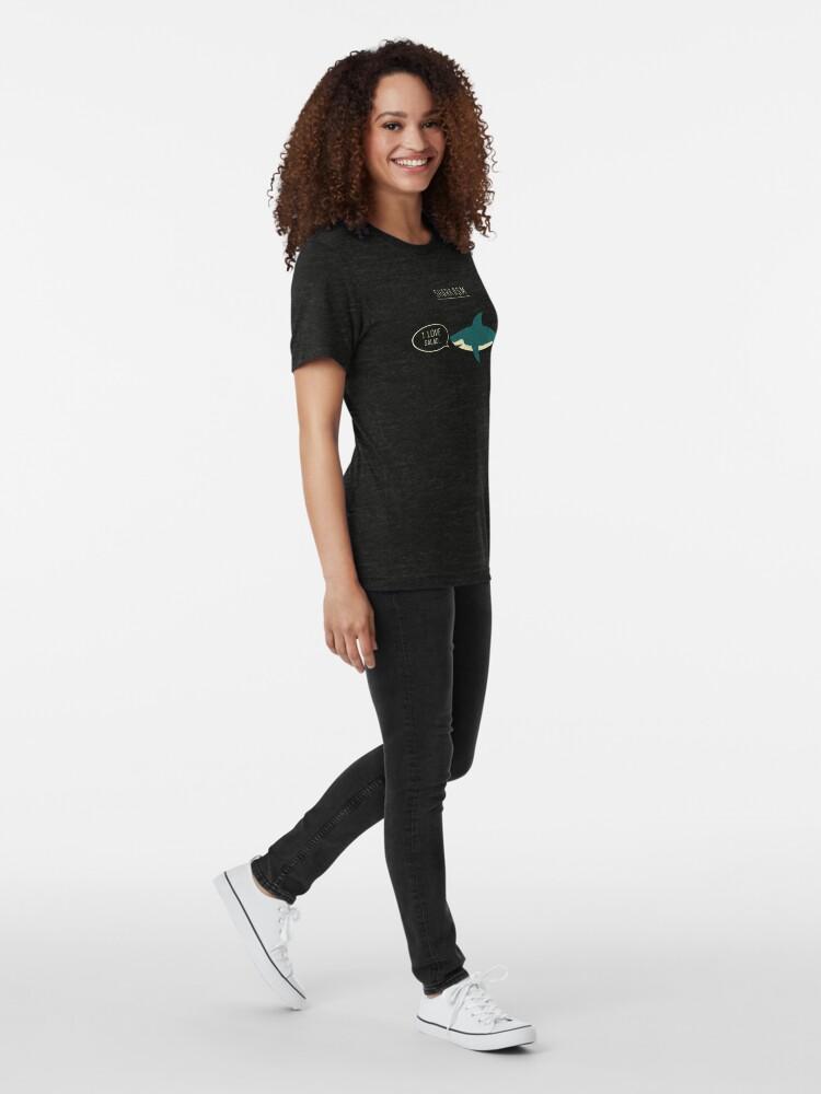 Alternate view of Sharkasm Tri-blend T-Shirt
