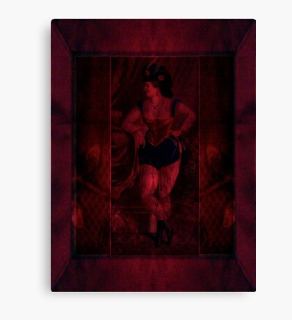 Plush Velvet Showgirl Canvas Print