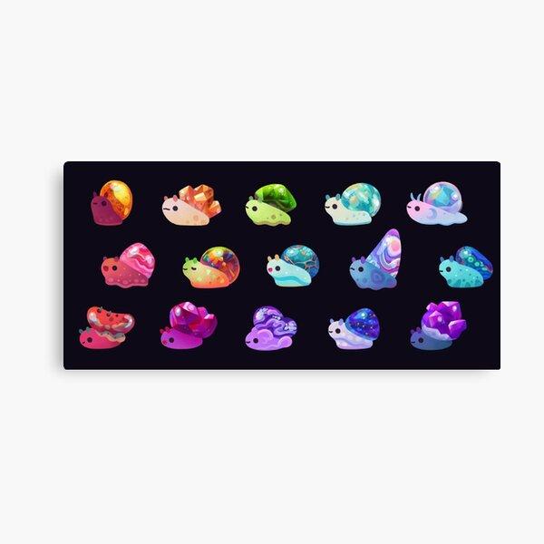 Jewel Snail Canvas Print