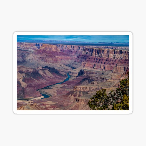 The Grand Canyon From the Watchtower 2 Sticker