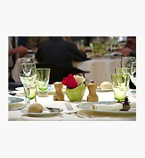 Restaurant table  Photographic Print