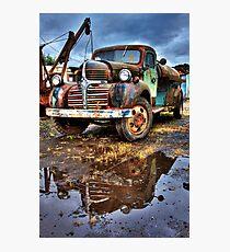 Vintage Dodge Tanker Truck  Photographic Print