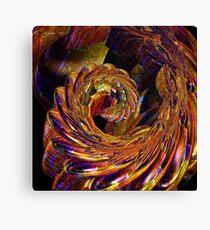 Metallic Swirl Canvas Print