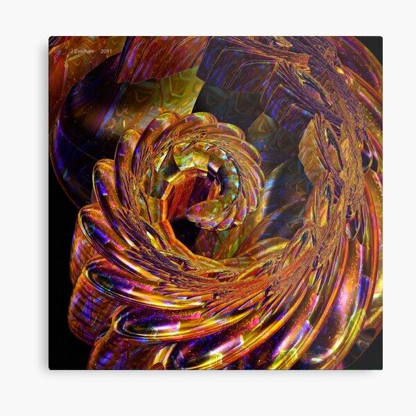 Metallic Swirl Metal Print