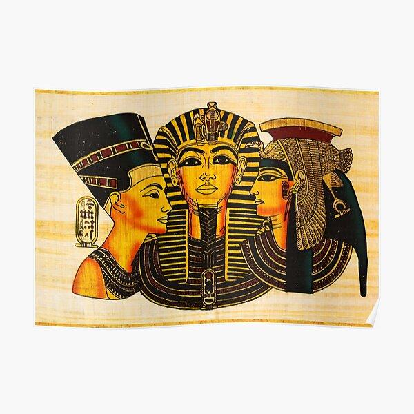 Egyptian Royalty King Tut Nefertiti Cleopatra Poster