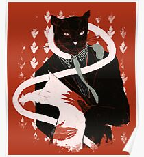 cat loves cats Poster