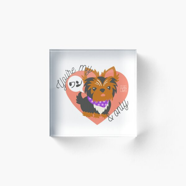 You're My ワン and Only Yorkie Acrylic Block